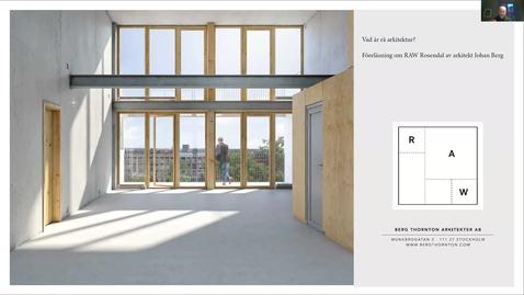 Johan Berg: Vad är rå arkitektur?