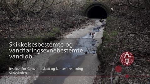 Thumbnail for entry Skikkelsesbestemte og vandføringsevnebestemte vandløb