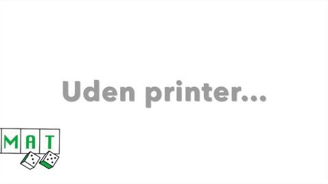 Thumbnail for entry DOMAT - uden en printer