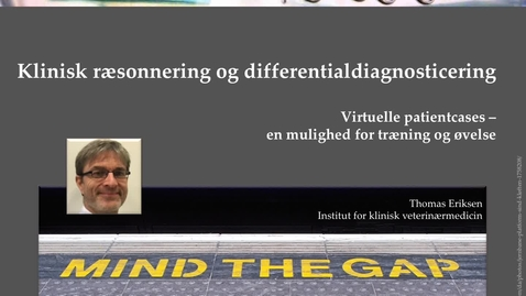Thumbnail for entry 2. Klinisk ræsonnering og differentialdiagnosticering. Virtuelle patient cases - en mulighed for træning og øvelse