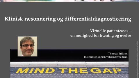 Thumbnail for entry 2. Klinisk ræsonnering og differentialdiagnosticering. Virtuelle patient cases - en mulighed for træning og øvelse