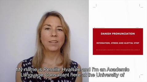 Thumbnail for entry Danish Pronunciation - Intonation and Stress_for international students_2020
