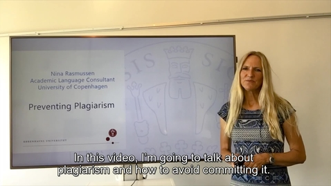 Thumbnail for entry Video om Preventing Plagiarism_for International Students_2020