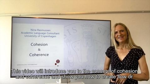 Thumbnail for entry Cohesion and Coherence in Academic Writing - international students_2020