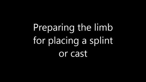 Thumbnail for entry Bandaging, Dog, Prepare limb for splint or cast