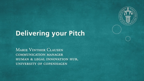 Thumbnail for entry Delivering your pitch