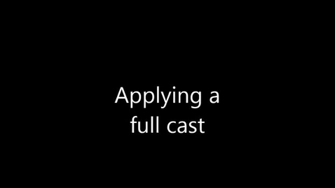 Thumbnail for entry Bandaging, Dog, Applying a full cast