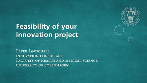 Thumbnail for entry Feasibility of your innovation project