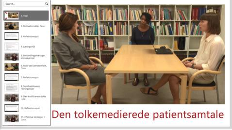Thumbnail for entry Den tolkemedierede patientsamtale (onlinekursus: åben via link nedenfor)