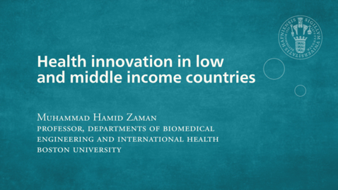 Thumbnail for entry Health innovation in low and middle income countries