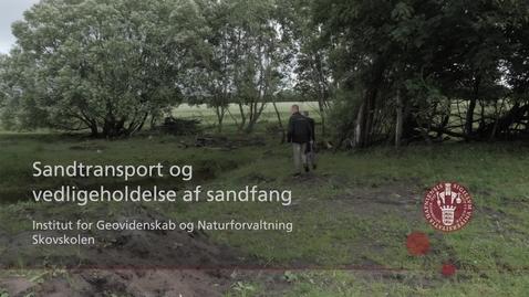 Thumbnail for entry Sandtransport og vedligeholdelse af sandfang