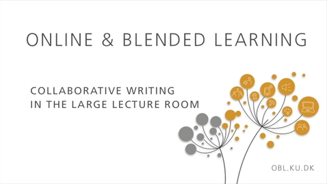 Thumbnail for entry Collaborative writing in large lecture rooms