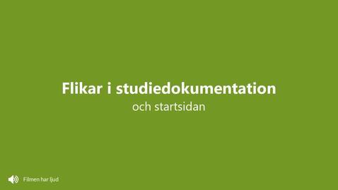 Miniatyr för inlägg Startsidan och flikarna i studiedokumentation