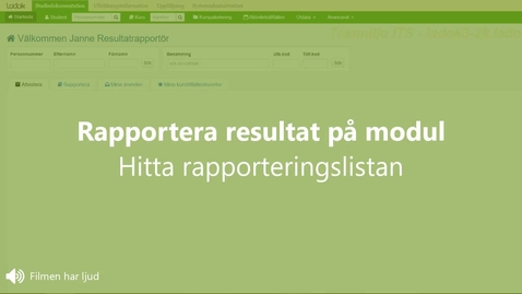 Miniatyr för inlägg Rapportera resultat: hitta rapporteringslistan