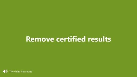 Miniatyr för inlägg Remove certified results