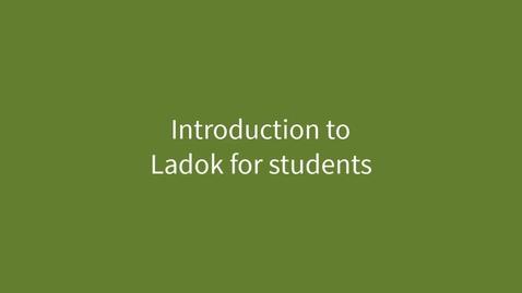 Miniatyr för inlägg Introduction of Ladok for students