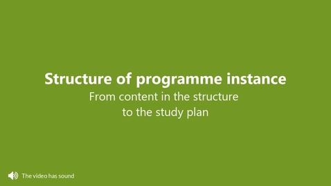Miniatyr för inlägg Structure of programme instance