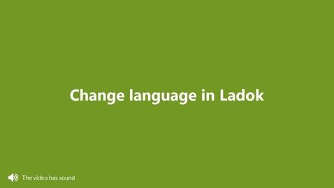 Miniatyr för inlägg Change language in Ladok