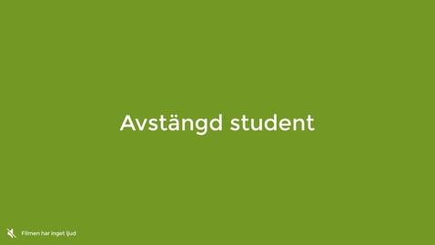 Miniatyr för inlägg Avstängd student