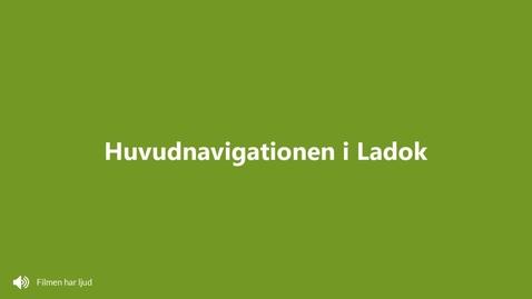 Miniatyr för inlägg Huvudnavigationen i Ladok