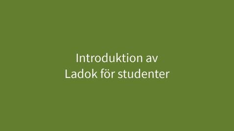 Miniatyr för inlägg Introduktion av Ladok för studenter