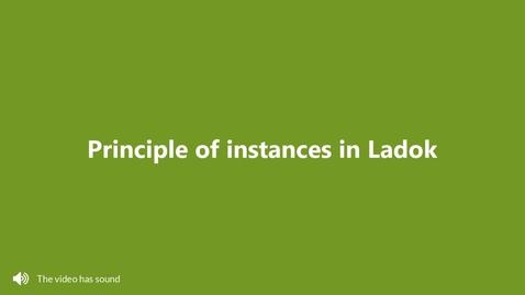 Miniatyr för inlägg Principle of instances in Ladok