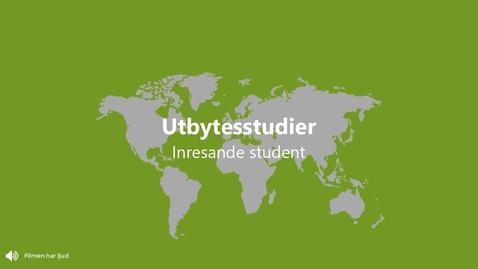 Miniatyr för inlägg Inresande studenter, utbytesstudier