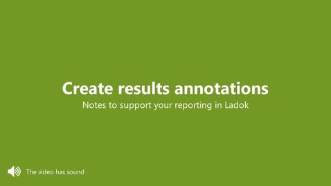 Miniatyr för inlägg Create results annotations