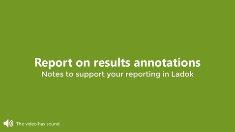 Miniatyr för inlägg Report on results annotations