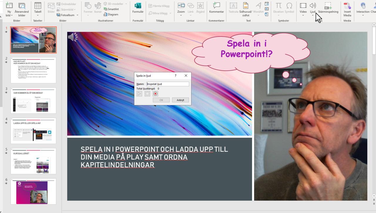 Spela in med Powerpoint