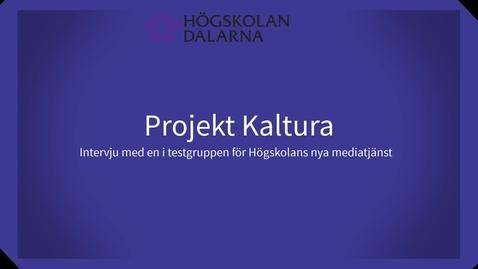 Miniatyr för inlägg Intervju med Katarina för projektet Kaltura