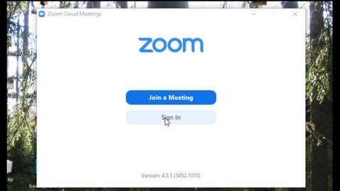 Miniatyr för inlägg Logga in i programmet Zoom