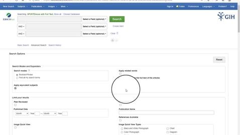 Thumbnail for entry Ebsco-databaserna: SportDiscus, Eric, PsycInfo