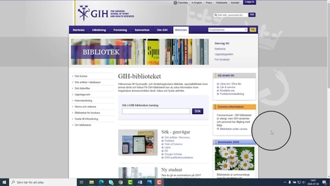Thumbnail for entry Om databaser