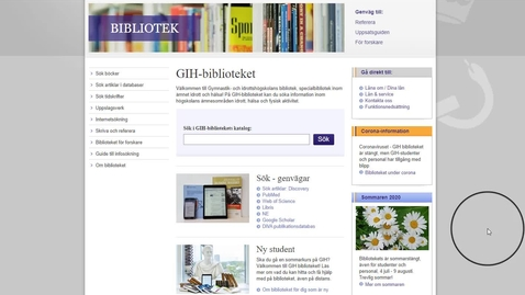 Thumbnail for entry Bibliotekskatalogen