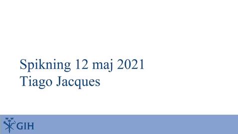 Thumbnail for entry Spikning av doktorand Tiago Jacques avhandling den 12 maj