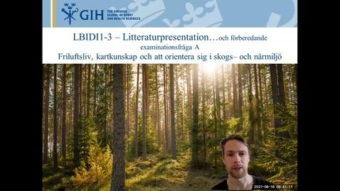 Thumbnail for entry Introduktion Litteratur LBIDI1-3 Friluftsliv skog, kartkunskap och att orientera sig