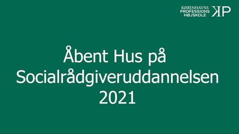 Thumbnail for entry Webinar - Socialrådgiveruddannelsen