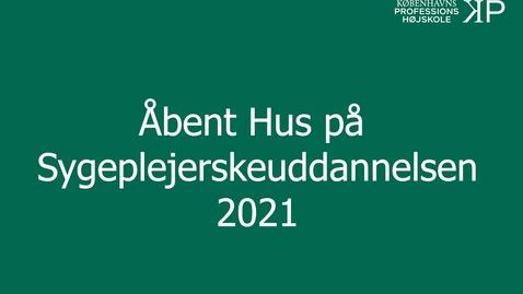 Thumbnail for entry Webinar - Sygeplejerskeuddannelsen