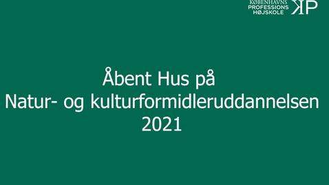 Thumbnail for entry Webinar - Natur- og kulturformidleruddannelsen