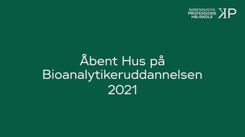 Thumbnail for entry Webinar - Bioanalytikeruddannelsen