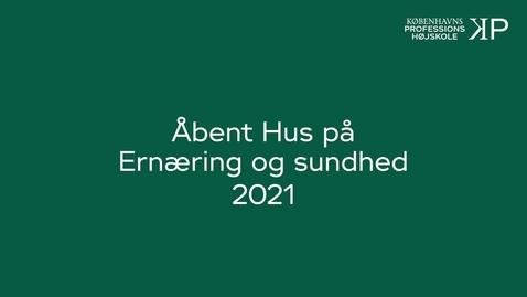Thumbnail for entry Webinar - Ernæring og sundhed