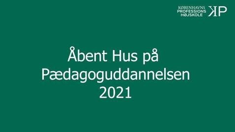 Thumbnail for entry Webinar Pædagoguddannelsen Campus Nordsjælland
