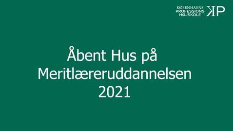 Thumbnail for entry Webinar - Meritlæreruddannelsen