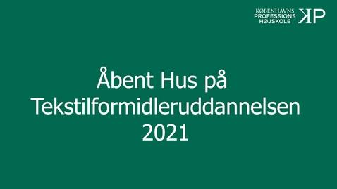 Thumbnail for entry Webinar - Tekstilformidleruddannelsen