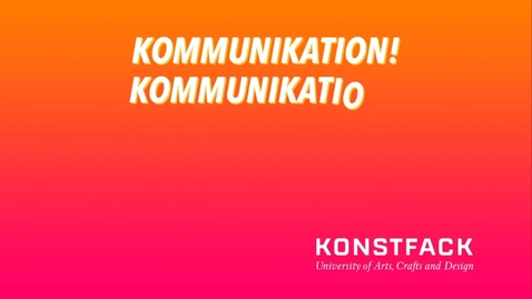 Thumbnail for entry Kommunikation ENG 2021