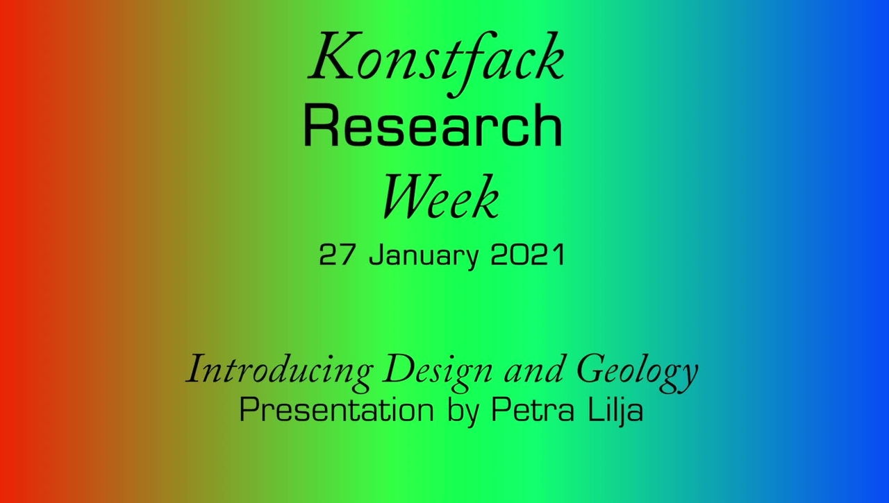 Research Week 2021: Introducing Design and Geology