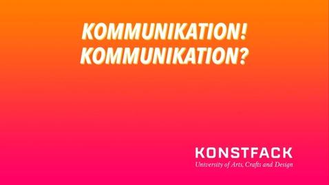 Thumbnail for entry Kommunikation SV 2021